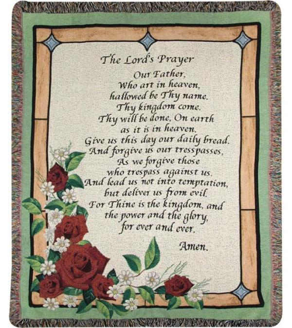 The Lord's Prayer Afghan Stained Glass
