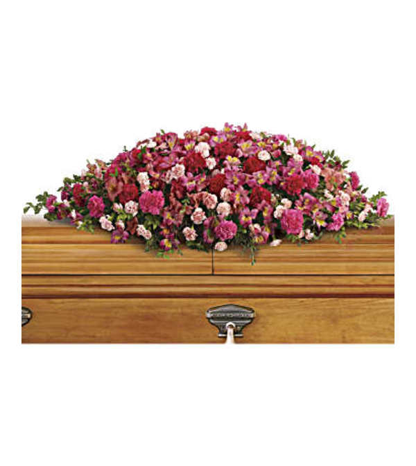 A Life Loved Casket Spray by Teleflora