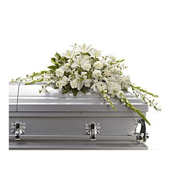 Bountiful Memories Casket Spray by Teleflora