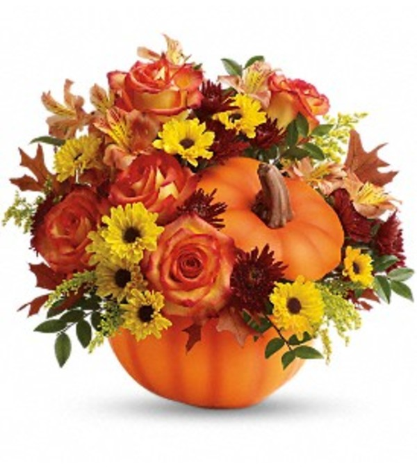 Warm Fall Wishes Bouquet by Teleflora Flowers
