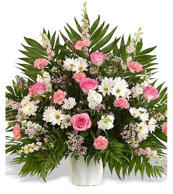 Traditional lovely pink display deerfield beach fl florist traditional lovely pink display mightylinksfo
