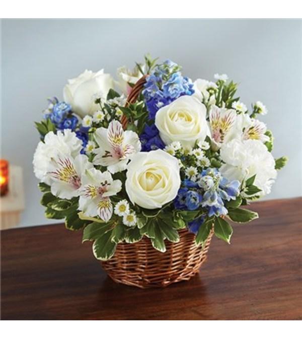 Blue & White Basket
