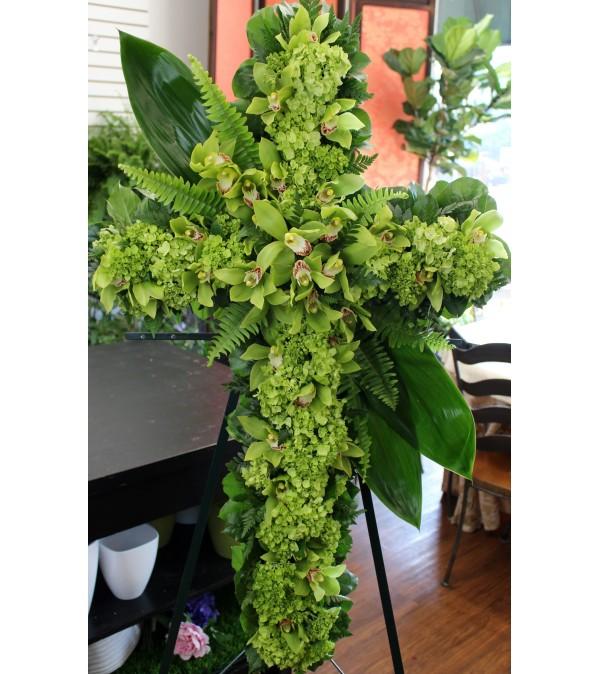 Green Hydrangea & Orchid Cross
