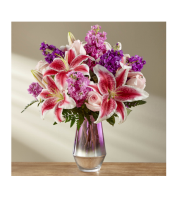 The Shimmering Lillies Bouquet