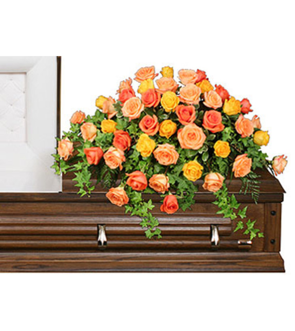 Beautiful Roses Casket Spray St Louis Mo Florist