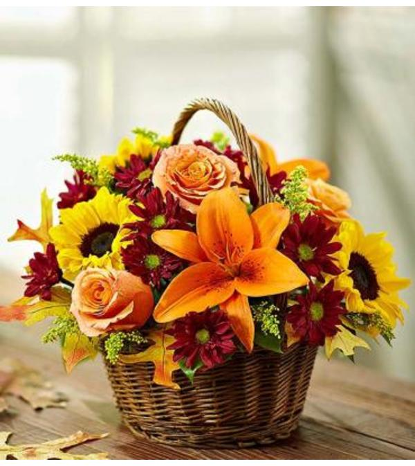 Fall Fields in a Basket