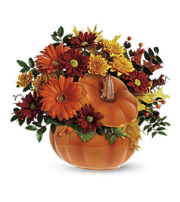 Fall Blooms Pumpkin