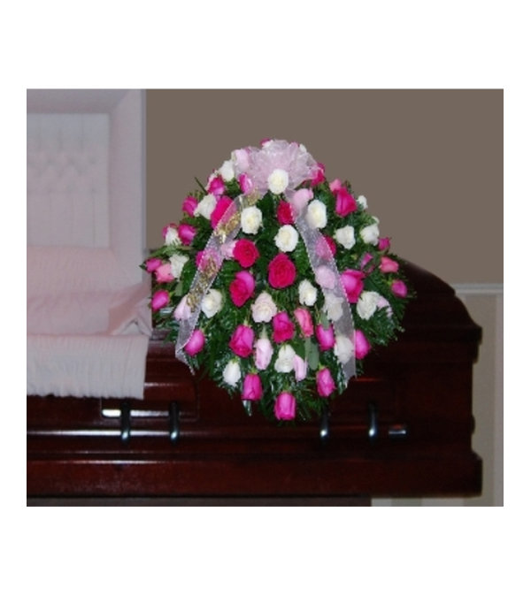 CASKET SPRAY OF ALL ROSES