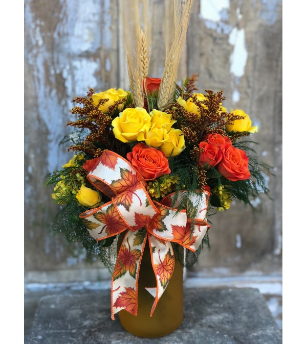 Festive Fall Spray Roses