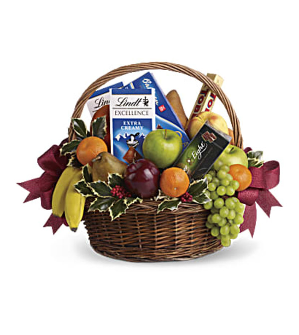 Fruits and Sweets Christmas Basket T135-2