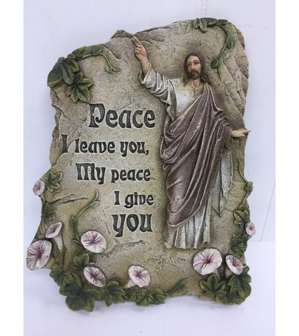 "Resin Plaque ""peace I leave you, My peace I give you"""