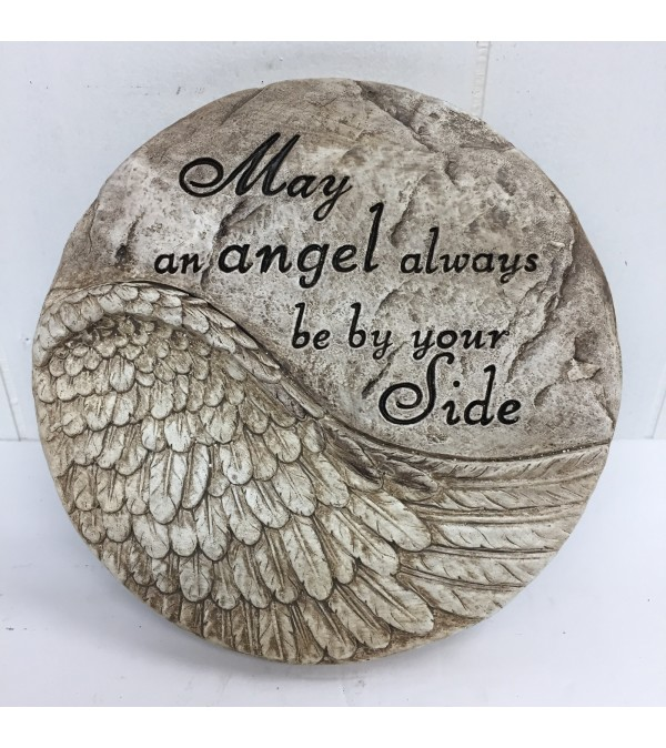 """May an angel always be by your side"" 8"" round"