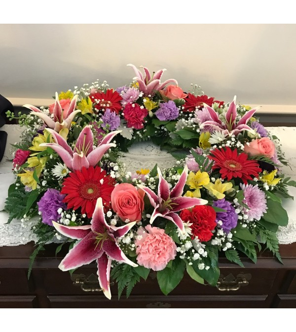 Full of Love Sympathy Wreath