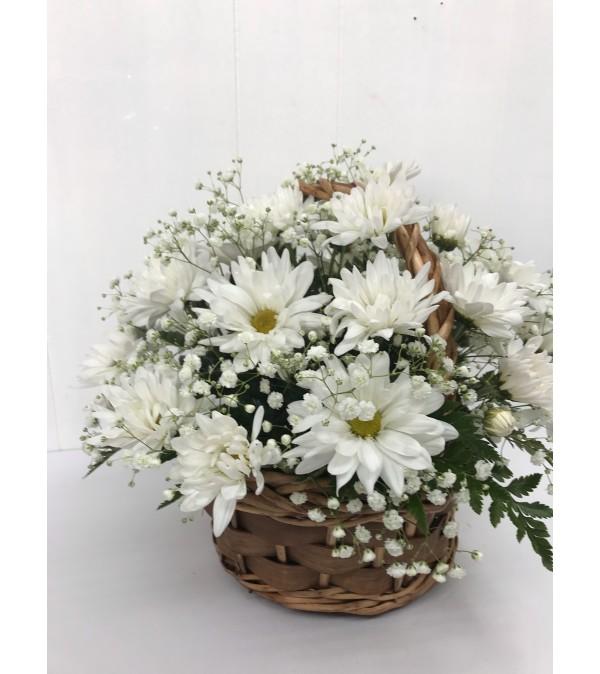 Grandma's Garden Daisy Basket