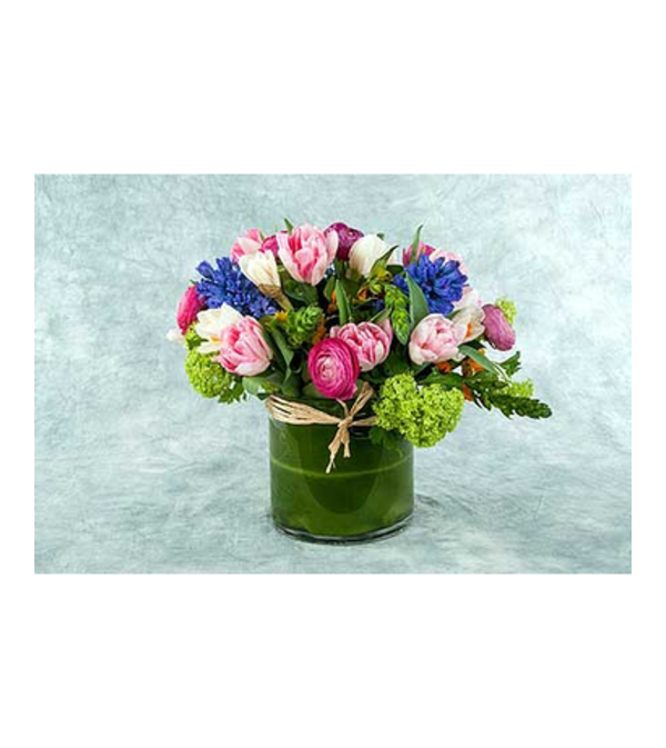 LUSH PINK AND BLUE ARRANGEMENT