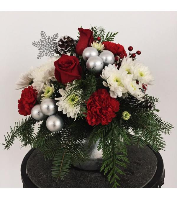 Silver Tidings Arrangement
