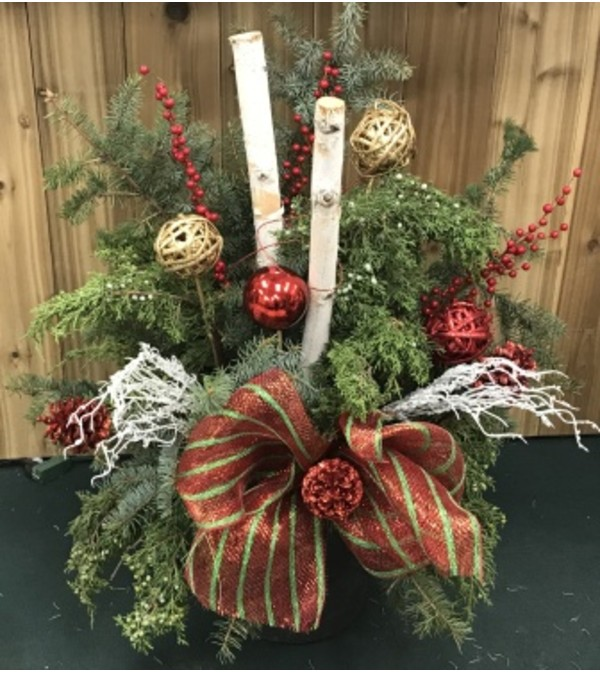 Christmas Out Door Planter