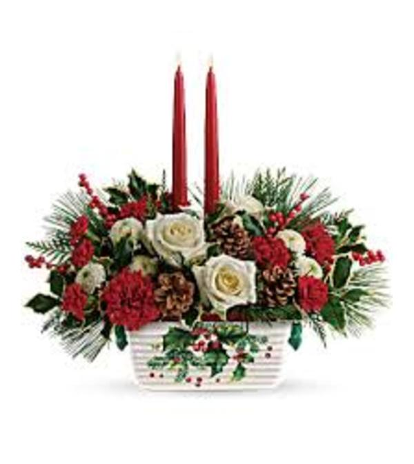 Teleflora Halls of Holly Centerpiece
