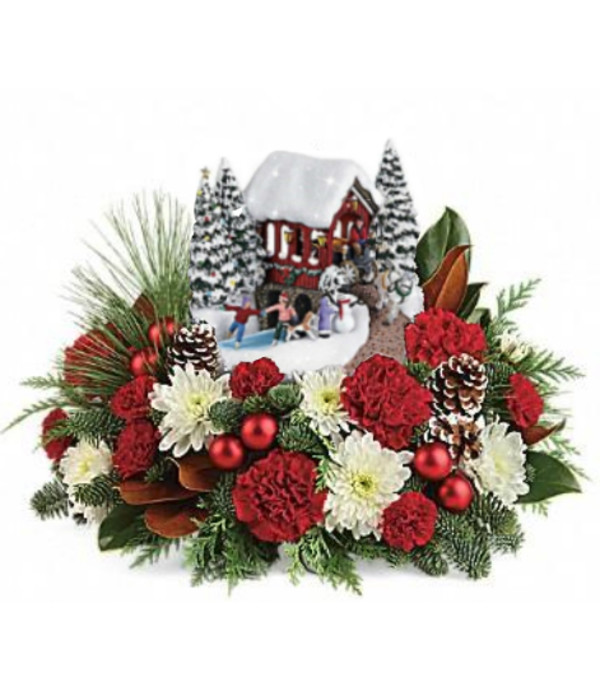 Available Dec 17 th Thomas Kinkade's with Carnations Bouquet 2018