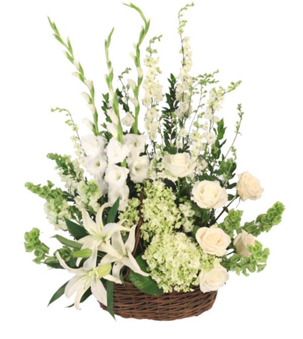 Peaceful Serene Basket Arrangement