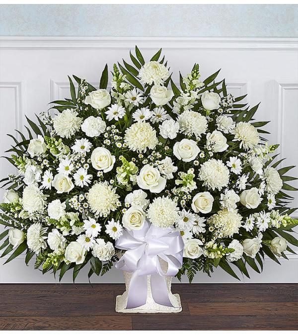 The Heartfelt Tribute Floor Basket White XL