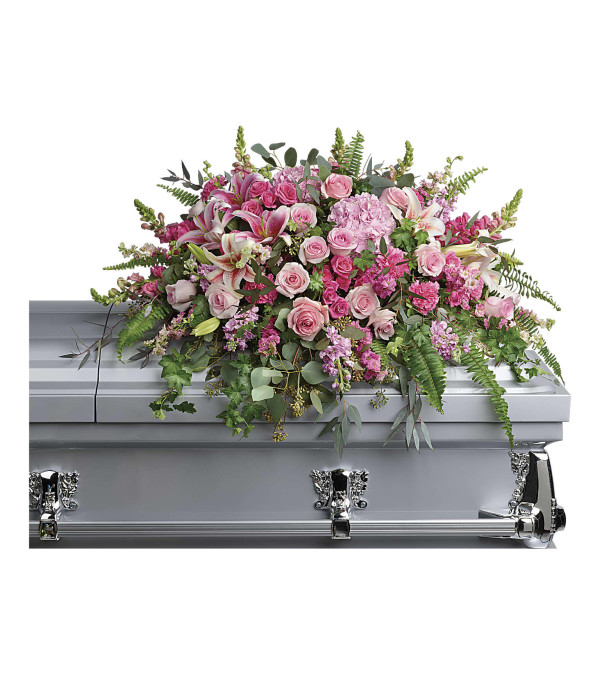 Teleflora Beautiful Memories Casket Spray