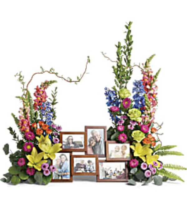 Teleflora Loving Farewell Photo Tribute Bouquet