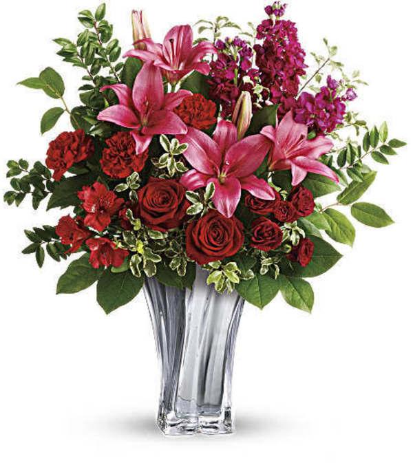 Teleflora Sterling Love Vase