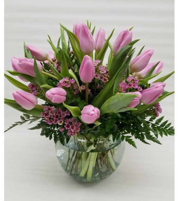 30 Tulips in a Bowl Color May Vary