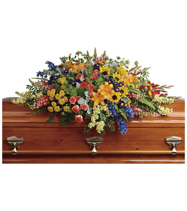 Colorful Reflections Casket Spray by Teleflora