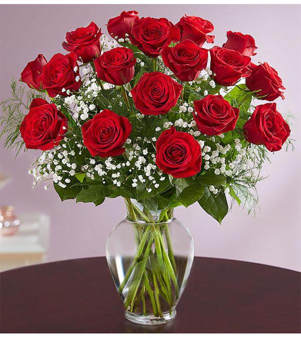 Red Roses Designed in a Vase