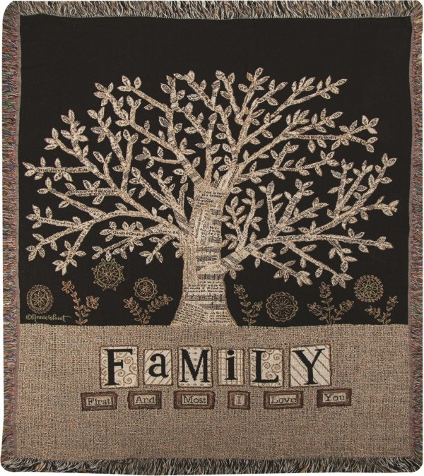 Tapestry Throw - Family