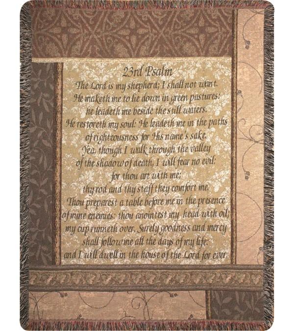 Tapestry Throw - My Shepherd 23rd Psalm