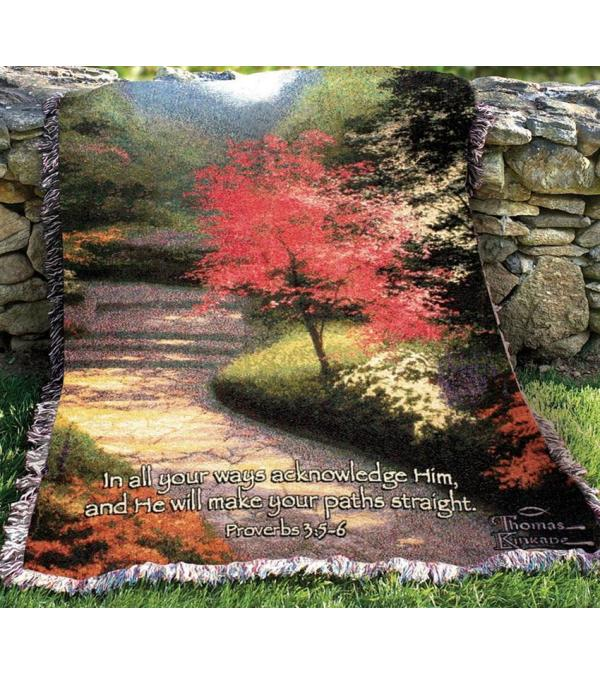 Tapestry Throw - Afternoon Light Dogwood