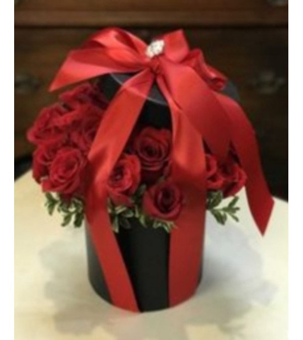 Secret Rose Garden Hatbox