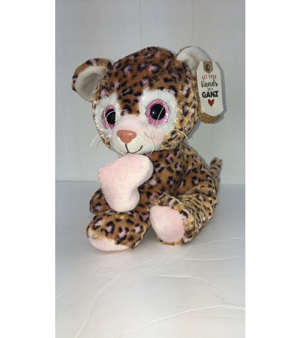 Lovie the leopard (tan and pink)