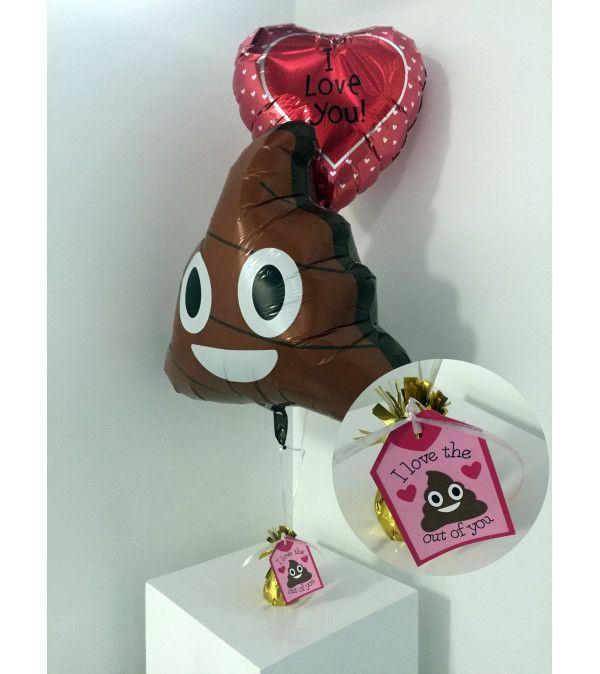 """""""I love the sh*t out of you"""" Valentine's Day balloon set"""