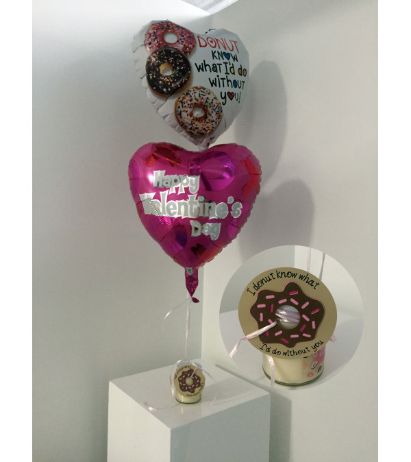 """""""Donut know what I'd do without you"""" Valentine's Day Balloon Set"""
