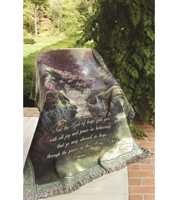 Tapestry Throw - The Garden Of Hope