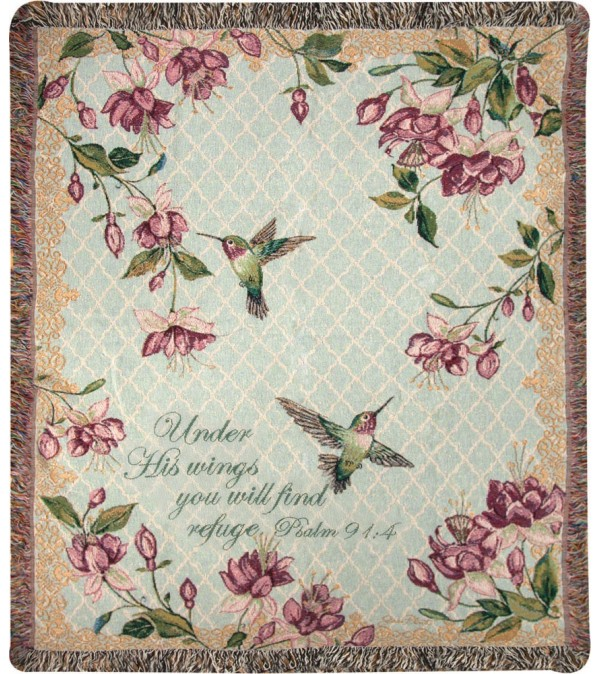 Tapestry Throw - Ruby Among The Fuchsias