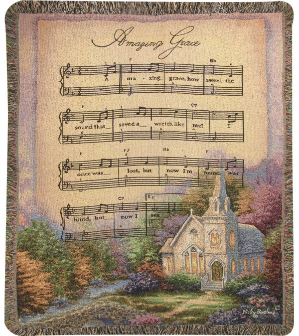 Tapestry Throw - Church In The Country