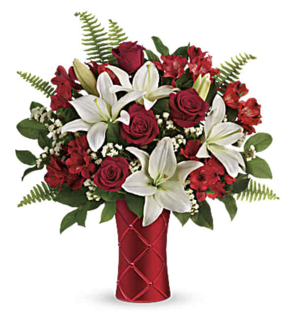 Teleflora Sweetest Satin Vase
