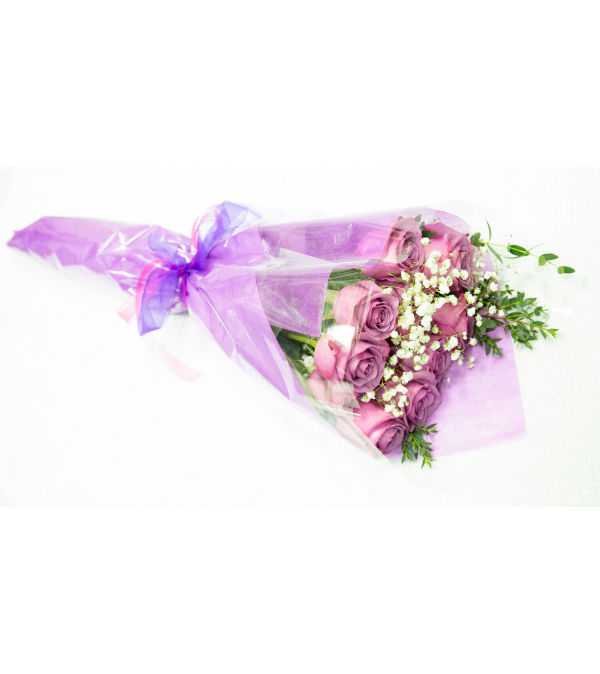 Purple Roses Wrapped