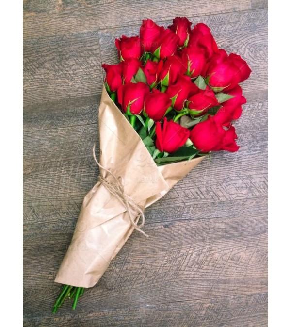 Ravishing Wrapped Roses
