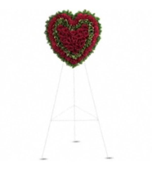 Teleflora's T225-1A Majestic Heart Standing Spray