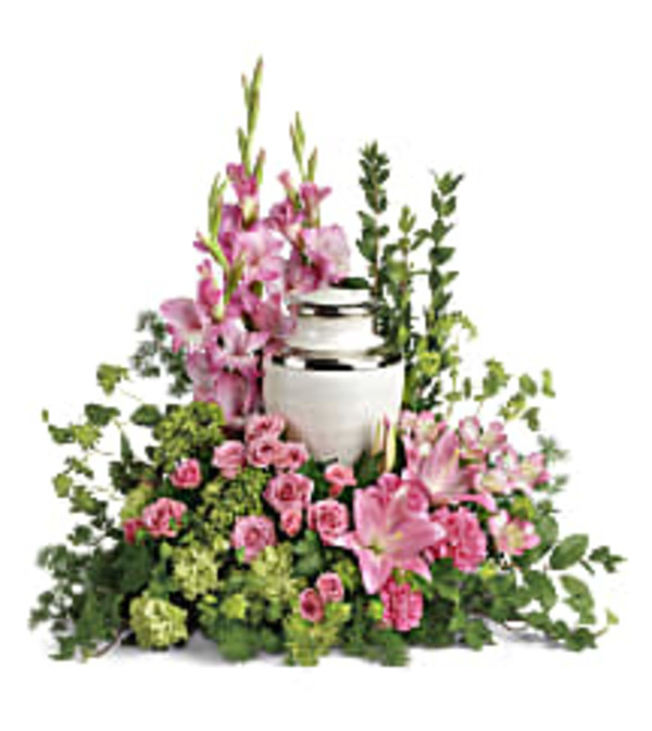Teleflora's T280-4A Sacred Solace Cremation Tribute