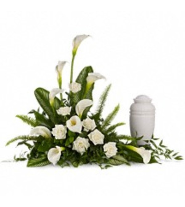 TRF217-1A Stately Lilies Cremation Tribute