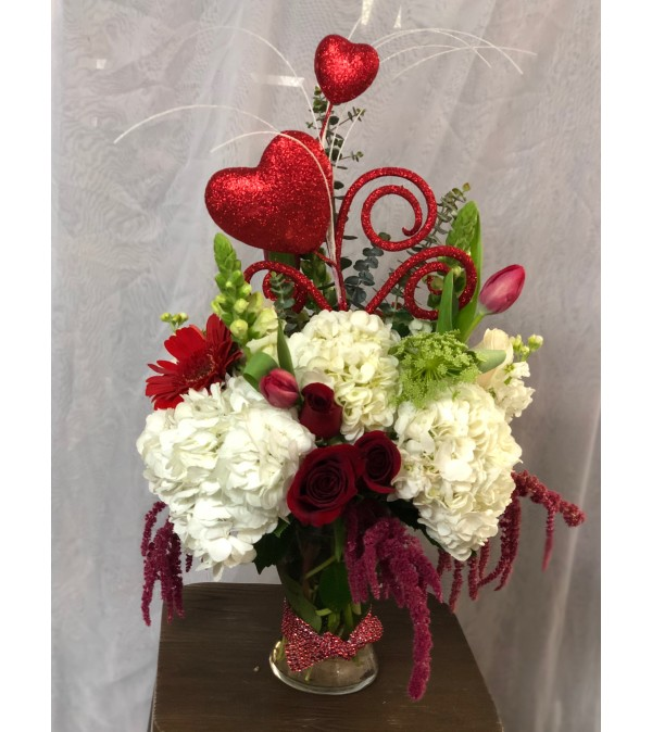 Cupid's Hearts Arrangement