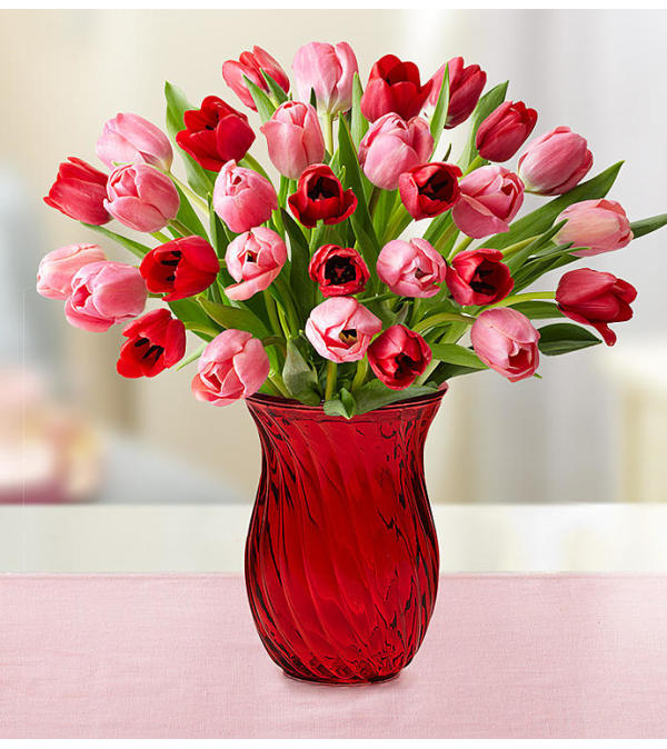 Tulips for Your Valentine Vase