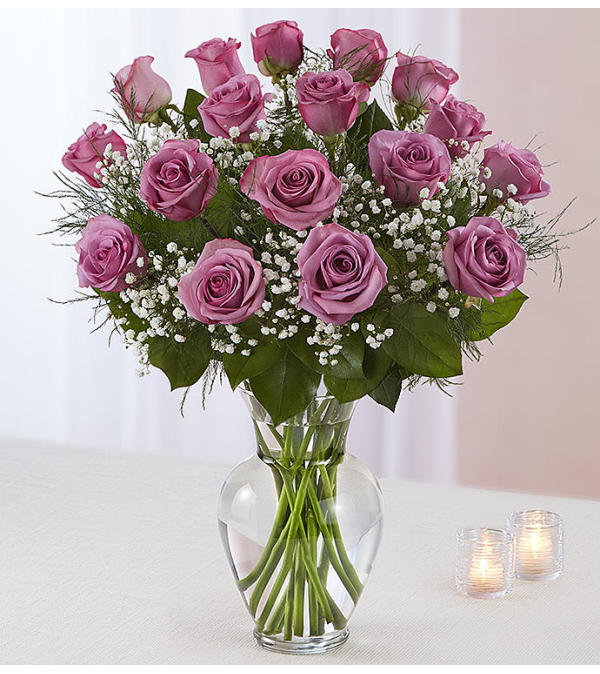 Beautiful Long Stem Lavender Roses